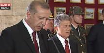 Cuhmurbaşkanı Erdoğan Anıtkabirde konuştu