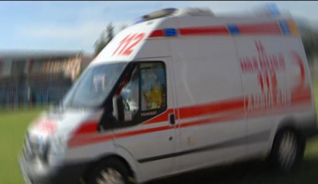 Kayseride ambulansa taşlı saldırı