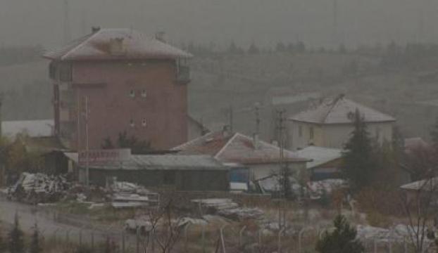 Ankaranın yüksek kesimleri beyaza büründü