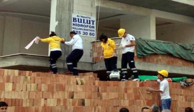 Bir inşaat kazası Adanadan