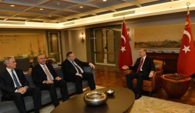 Cumhurbaşkanı Erdoğan, Venizelos ve Andrew ile görüştü
