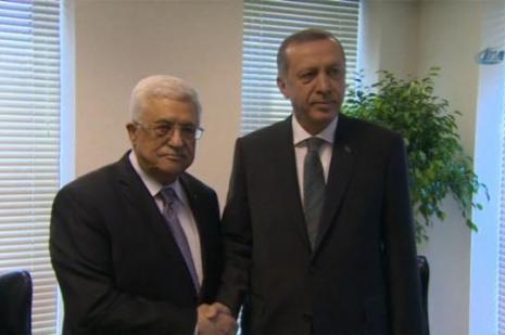 Filistin Devlet Başkanı Abbas Ile Bir Araya Geldi
