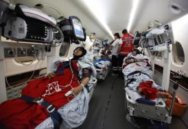Filistinli yaralılar Türkiye'ye getirildi