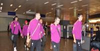 Galatasaray'a havalimanında taraftar tepkisi