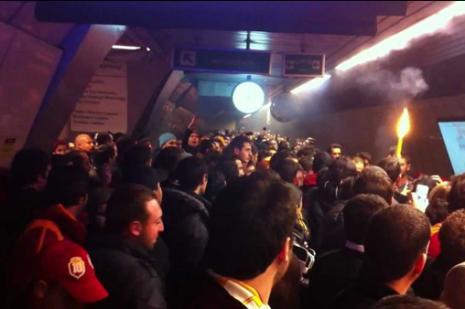Galatasaray taraftarına metro uyarısı