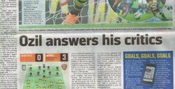 İngiliz basınında Mesut Özil'e bu kez tam puan