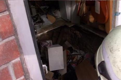 İstanbulda bir işyeri çöktü