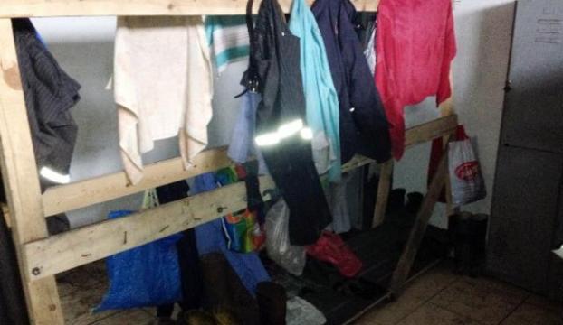 İşte o madencilerin soyunma odaları