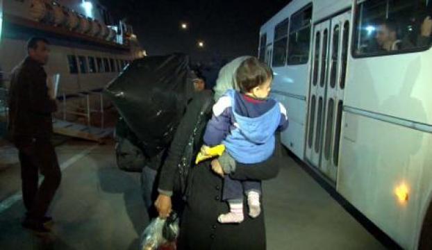 KKTC açıklarında kurtarılan kaçak göçmenler Mersine getirildi