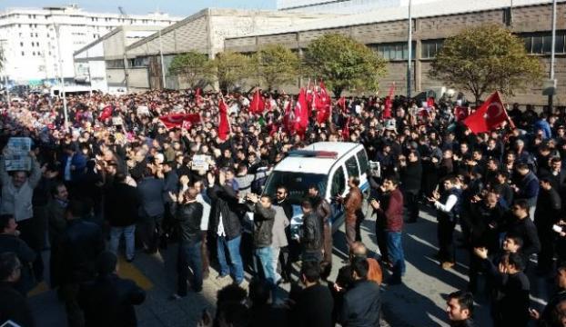 Operasyonlara İzmirden tepki