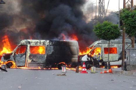 Diyarbakırda ilk belirlemelere göre 5 kişi öldü