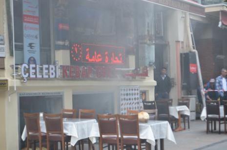 Restoranda yangın çıktı