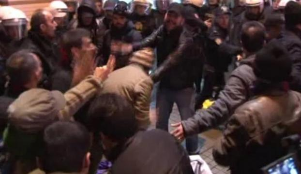 Taksimdeki IŞİD protestosunda gözaltı