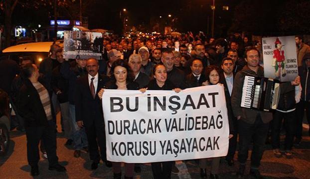 1500 kişi Validebağ için yürüdü