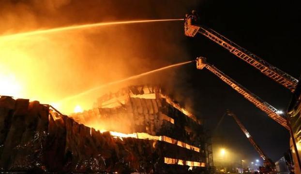 Halkalı Gümrüğünde yangın