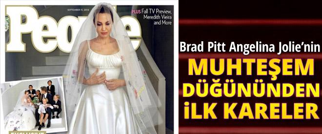 Brad Pitt-Angelina Jolie Düğününden ilk kareler