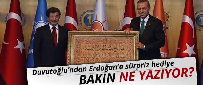 Erdoğan'a sürpriz hediye