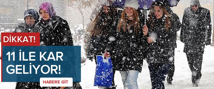 İstanbul'a ve 10 ile kar yağışı uyarısı